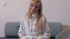 FakeAgent Foxy Blonde Student With Skinny Body Takes Anal Cream Pie