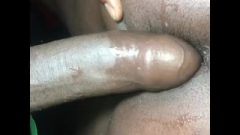 College Ebony SWALLOWS 10in Big Black Dick UPSIDE-DOWN!! Then Gets ANAL CREAMPIE!!
